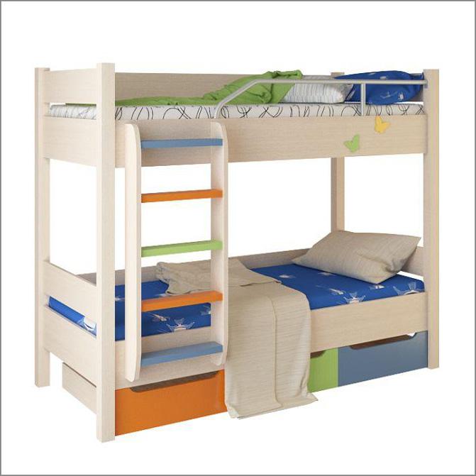 Кровать двухъярусная детская «Моряк», 80х200 см