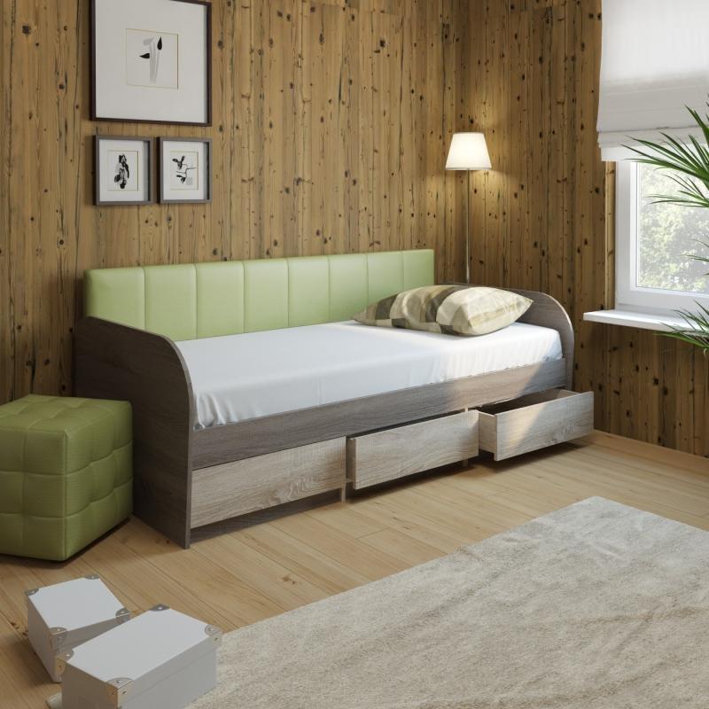 Детская зеленая комната